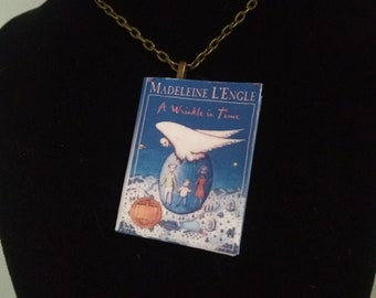 A Wrinkle in Time Book Pendant - Mini-Book Pendant - Mini Book Ornament - A Wrinkle in Time Book Jewelry - A Wrinkle in Time Book Pendant