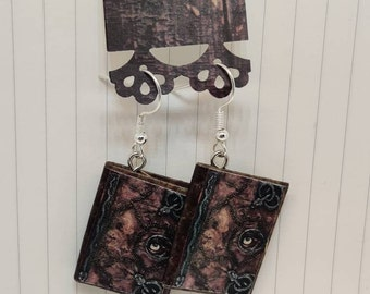 Hocus Pocus Book Earrings - Handmade Book Jewelry - Book Earrings - Mini Book Jewelry - Mini Book Earrings