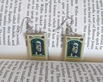 A Series of Unfortunate Events Book Earrings /  Book Earrings /  Lemony Snicket /  Book Jewelry / Handmade Book Earrings / Gift for Her