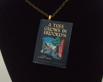 A Tree Grows in Brooklyn Book Pendant/Ornament - A Tree Grows in Brooklyn, Betty Smith - Classic Novel-Book Jewelry-A Tree Grows in Brooklyn