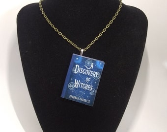 Book Pendant/Ornament-A Discovery of Witches-Deborah Harkness-A Discovery of Witches Necklace - Literary Gift-Book Lover Gift - Book Jewelry