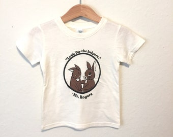 Look for the Helpers Bunny T Shirt, Fred Rogers, Unisex