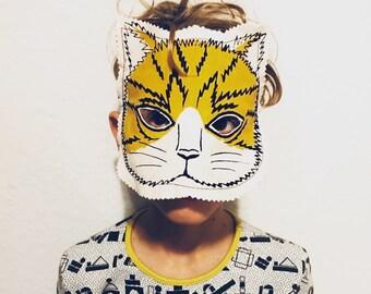 Super Hero Cat Mask unisex ages 4 to 10