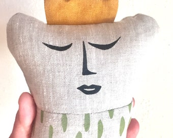 Tooth Fairy Pillow with pea green spots