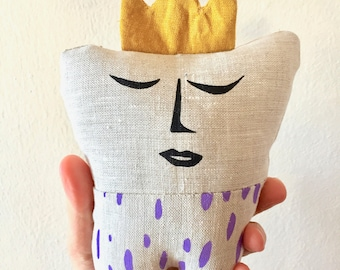 Tooth Fairy Pillow with Purple Pants