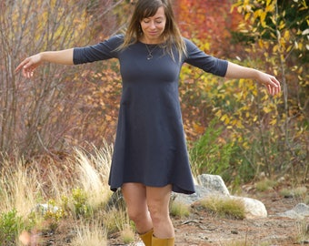 Hemp Aster Dress - women's organic clothing - eco-friendly tunic dress