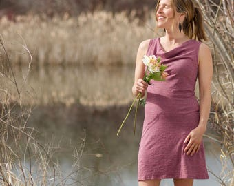 Hemp Lupine Summer Dress - Organic Clothing Sundress