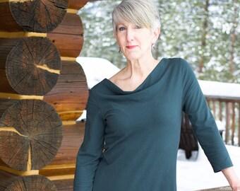 Organic Handmade Clothing - Lupine Cowl Tunic Dress