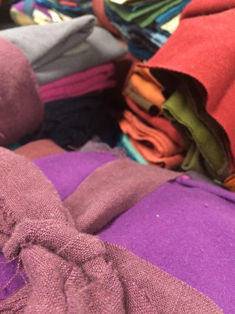 Organic Fabric Scrap Bundle