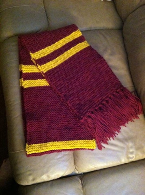 Knitting Pattern Only Harry Potter Gryffindor Inspired Etsy