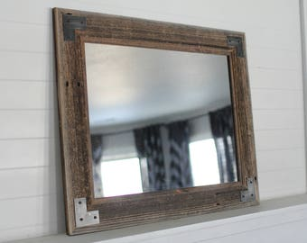 Reclaimed Wood Bathroom Mirror