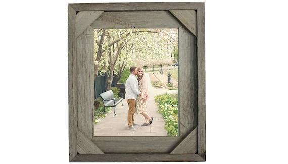 Corner Block Barnwood Frame Reclaimed Wood with Rustic Charm | Etsy