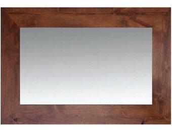 Stained Alderwood Mirror - Santa Fe