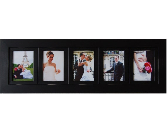 Five Opening Collage Picture Frame with Five Portrait Picture ...