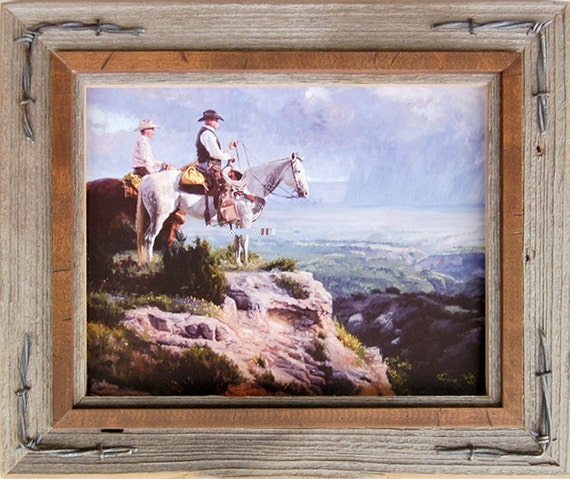 Western Frames With Barbed Wire Hobble Creek Series Etsy