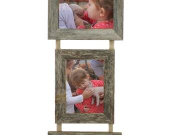 5x7 Triple Barnwood Hanging Frame, 2 Landscape, 1 Portrait
