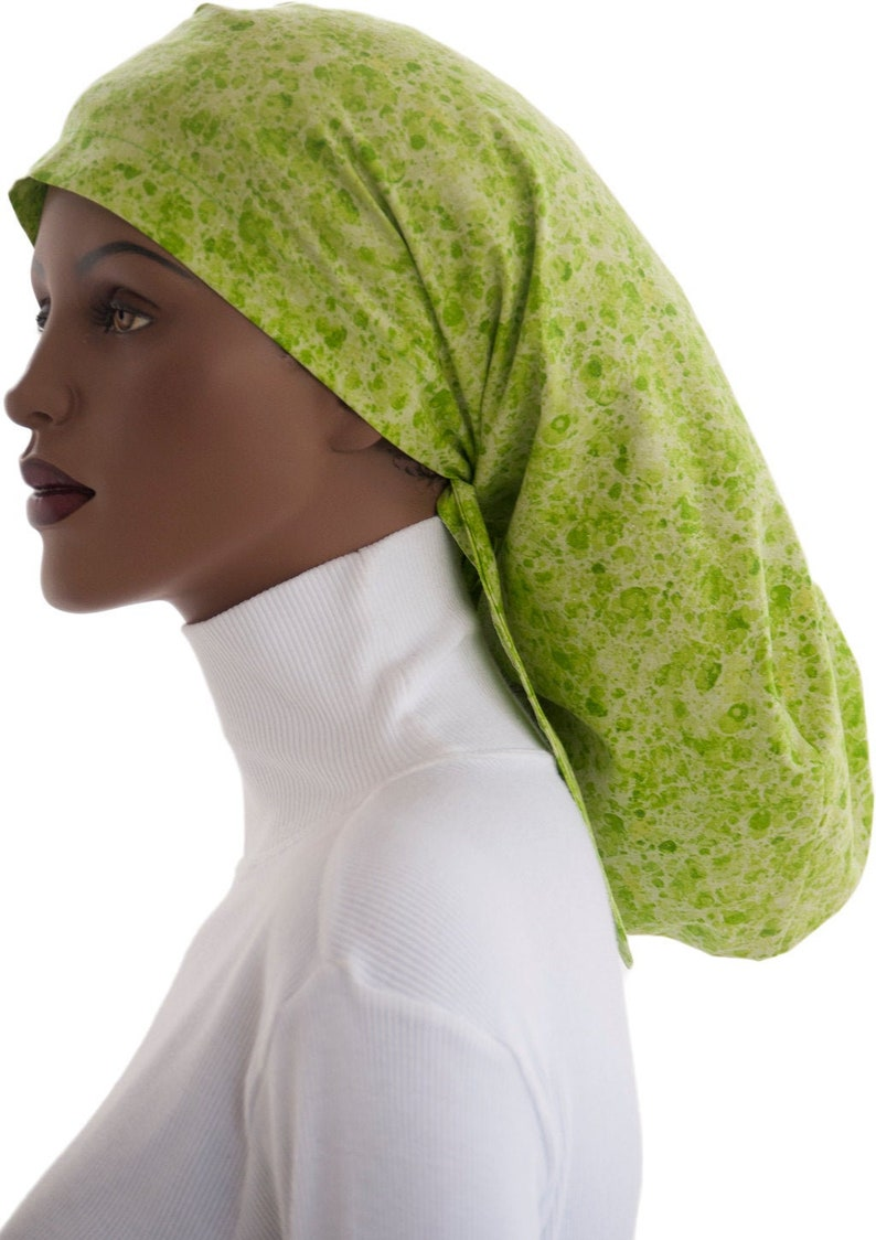 Dreadlock Worthy Locks Snood™ Snood Mix Green Glitter Cotton image 0