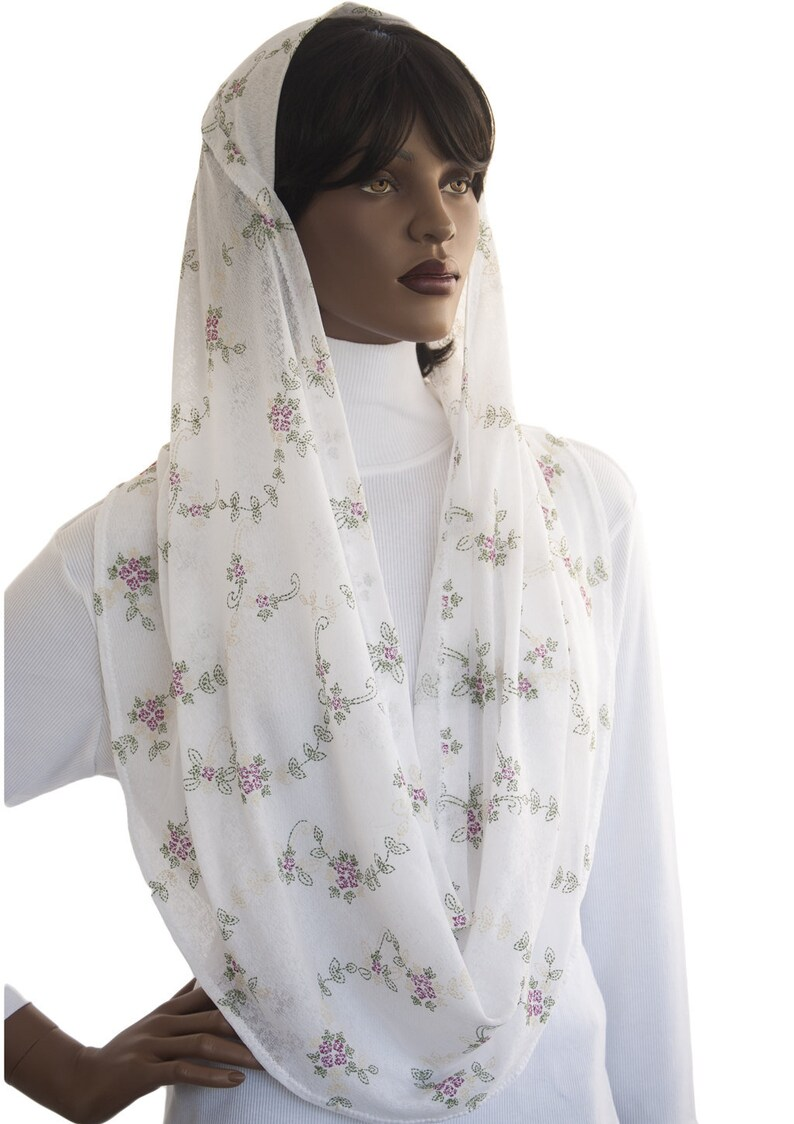 Veil Covering Kaatnu Veil™ Floral Bloom Stretch Jersey Knit image 0
