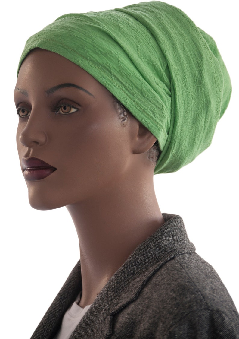 SALE Cotton Wrap Scarf African Wrap Green Embroidered Wrap image 0