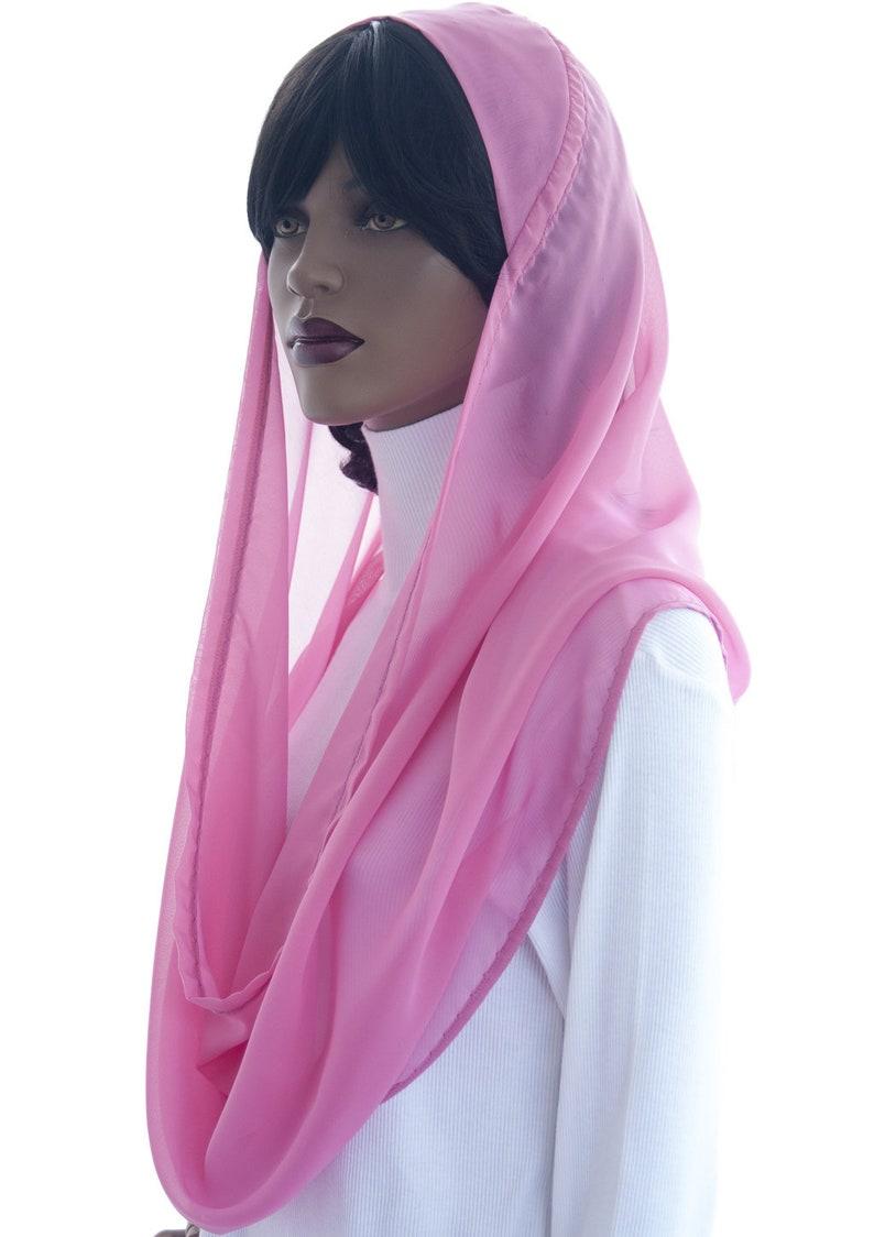Kaatnu Veil™ Rich Pink Chiffon Easy Christian Catholic image 0
