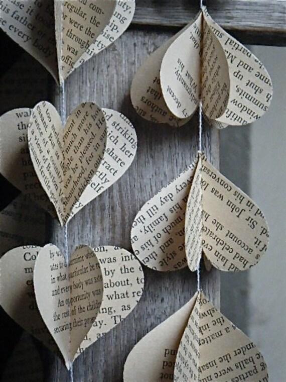 Jane Austen 3d Paper Mobile Vintage Book Wedding Decor