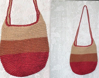 489dac426c Vintage Raffia Shoulder Bag