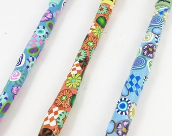 Size F 3.75 mm Boye Crochet Hook Polymer Clay Handle Color Choices UK Canada Imperial Sizes Ergonomic Craft Tools Fiber Art Tools Yarn Hook