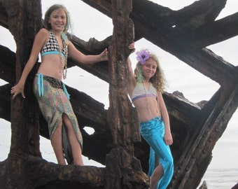 Kids Mermaid Costumes for theatre, dance, plays, mermaid parties, parades, holiday