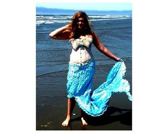 Mermaid Costume with Corset and Sea Shell Bra