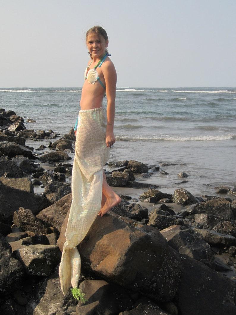 Teenage mermaid tail with shell top