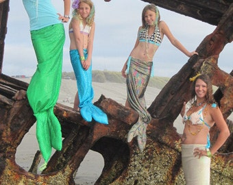 Mommy and Me Mermaid Tails for theatre productions, dance productions, plays, parties, parades