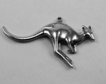 2 x large Kangaroo pendant 1 bail Australian Pewter AF177