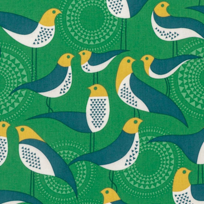 Modernist by Joel Dewberry peacock Perch cotton quilting fabric
