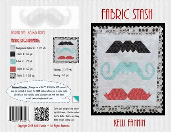 Fabric Stash Mustache 60 Art Patchwork Quilt Quilting Etsy