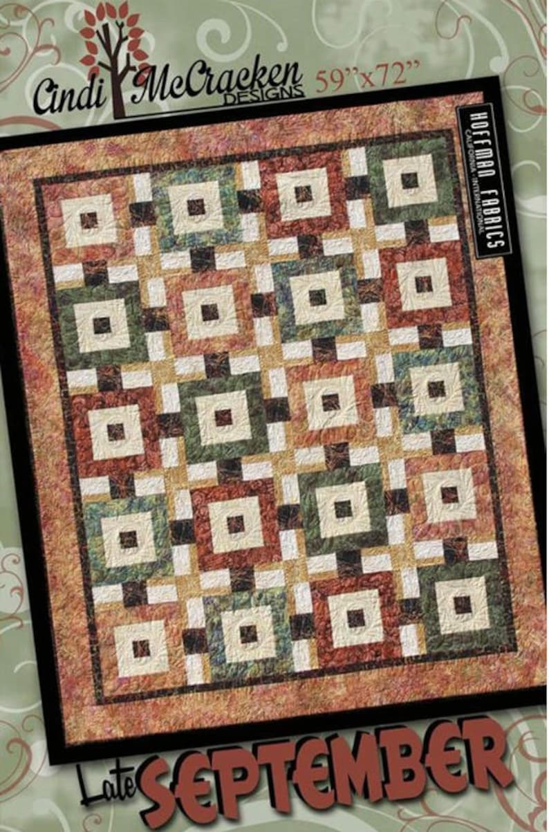 From Cut Loose Press Patterns NEW STAR LATTICE QUILT QUILTING PATTERN