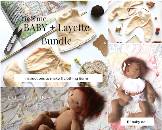 Doll Pattern Pattern Bundle Doll Clothing Pattern Baby Fig And