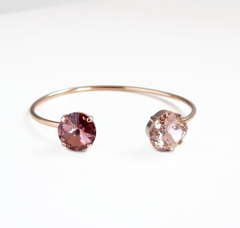 5cf58e917496 Blush and rose gold open cuff bracelet rose gold open bangle