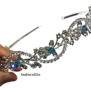 ALLEGRA Zirconia Wedding Headpiece Leaves Wedding Crown Cz Bridal Tiara Bridal Hair Jewelry Marquise Wedding Tiara Vines Bridal Crown