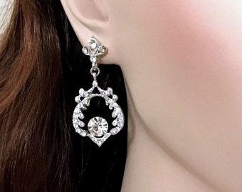 Leaf Bridal Earrings, Oaks Dangle Earrings, Swarovski Crystal Wedding Earrings, Princess Kate Middleton Inspired Woodland Wedding Jewelry