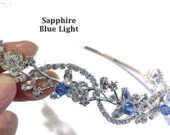 Vines Bridal Headpiece, Bridal Tiara, Wedding Tiara, Bandeau Crown, Bridal Halo, Crystal Wedding Headpiece, Swarovski Hair Jewelry, ADORNA