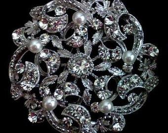 eb507f2e095 Vines Wedding Broach, Flower Bridal Brooch, Leaves Bridal Jewelry, Crystal  Boho Wedding Jewelry, Bridal Dress Sash Pin, Bouquet Pin, LUXE