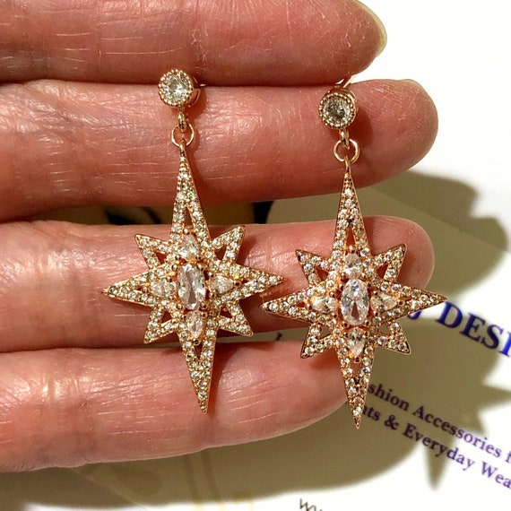unique gift celestial jewelry galaxy star earrings with sterling silver posts