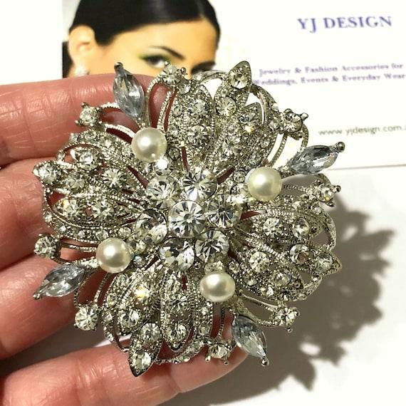 Galaxy Wedding Brooch Starburst Bridal Brooch Wedding Dress Etsy