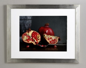 Natura Morta, red and black,  Fine art photograph, 8x12 print
