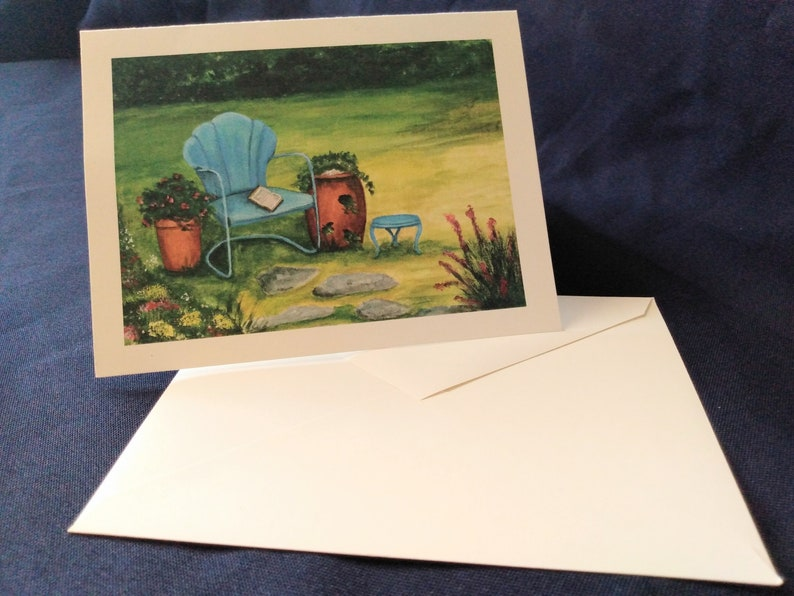 greeting card 80lb cover set of five Comfort blank note card size 4.2x5.5 cheerful stationary pick me up cards peaceful cards