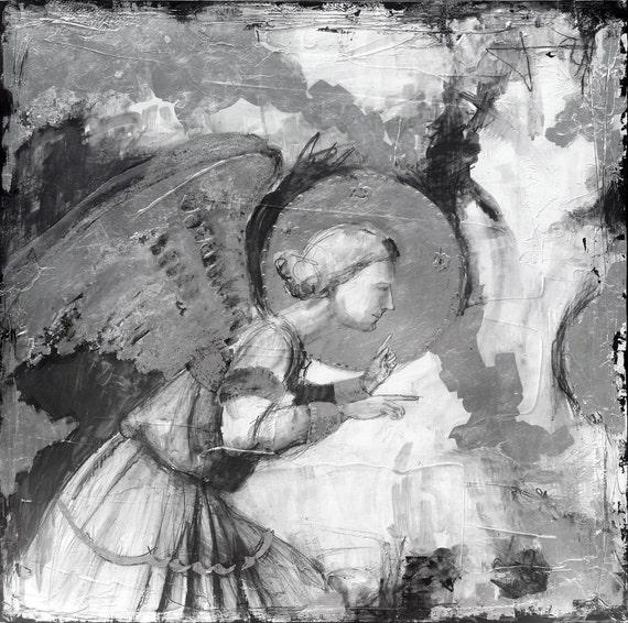 Annunciatory Angel -metallic print