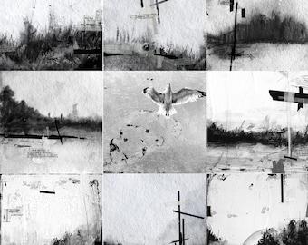 Pilgrimage - collection of 9 metallic art prints