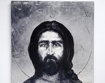 Christ Pantocrator - metal print
