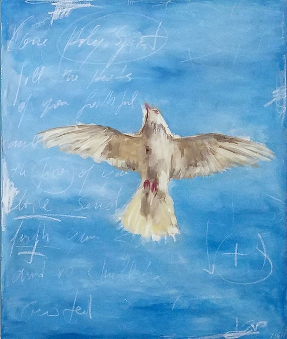 Come Holy Spirit - original acrylic painting