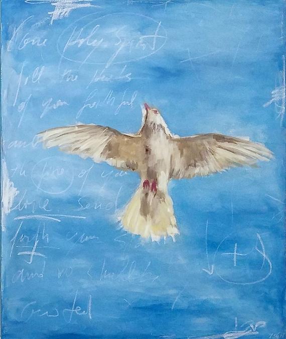 Come Holy Spirit - original acrylic painting